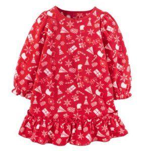 Carter's Toddler Girls 3T Holiday Fleece Nightgown